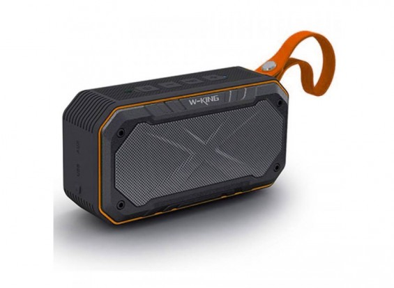 W-King S18 Waterproof Portable Intelligent Bluetooth Speaker With Calls/ FM Radio / AUX - ORANGE