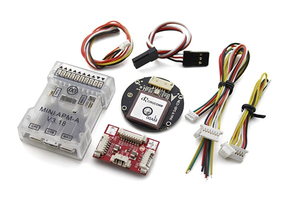 SCRATCH/DENT - HobbyKing HKPilot Mega Mini Combo Flight Controller GPS and Power Module
