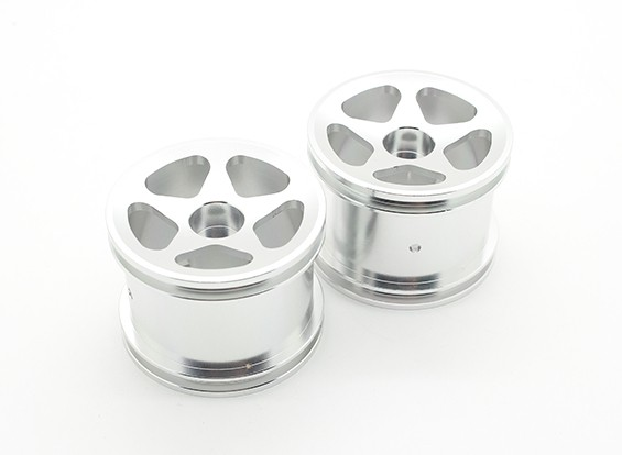 SCRATCH/DENT - GPM Racing Associated RC18T Alloy Standard Sinkage Surface Rims (Star) (Silver) (1pr)