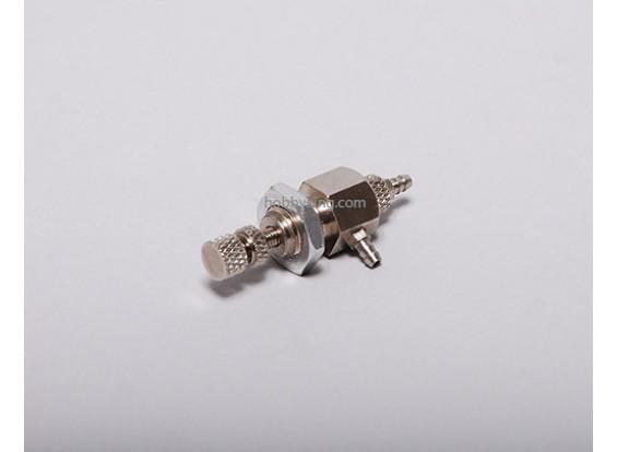 Una forma de aire de la válvula de recarga (tornillo de bloqueo)