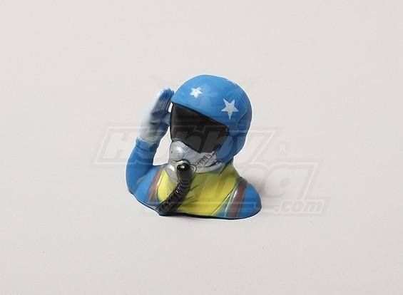 Hacer un saludo del piloto de jet (H39 x W43 x D24mm)