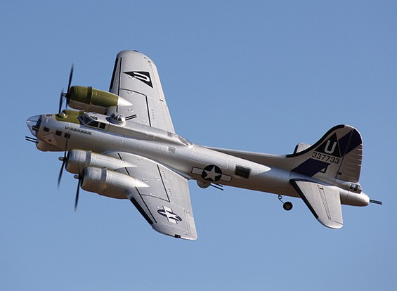 HobbyKing 1875mm B-17 F / G fortaleza del vuelo (V2) P & P (plata)