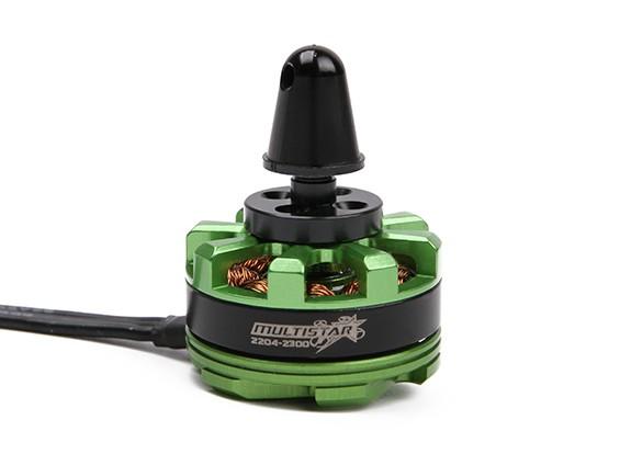 MultiStar DT2204-12P-2300KV motor con adaptador Prop y Nut (CW)
