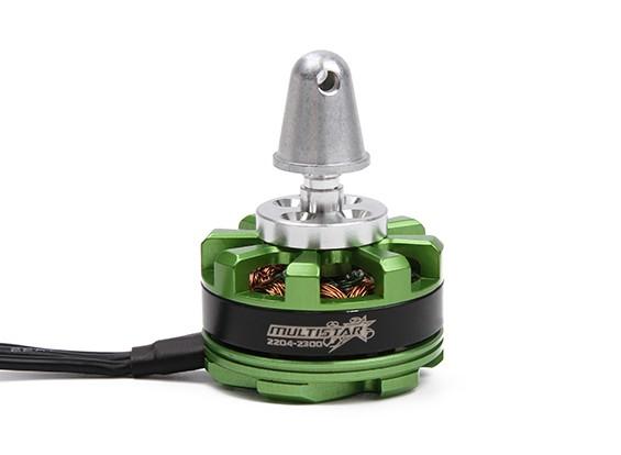 MultiStar DT2204-12P-2300KV motor con adaptador Prop y Nut (CCW)