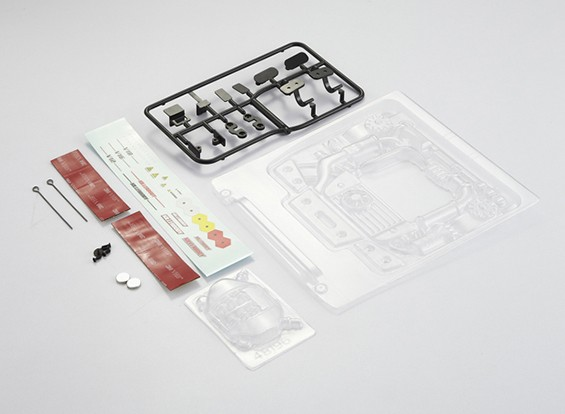 Kit de motor MatrixLine policarbonato de 1/10 Touring Cars # 6