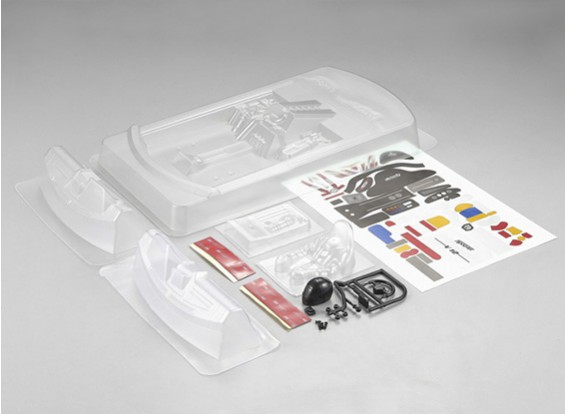 MatrixLine policarbonato de motor trasero Kit de bañera de 1/10 Touring Cars