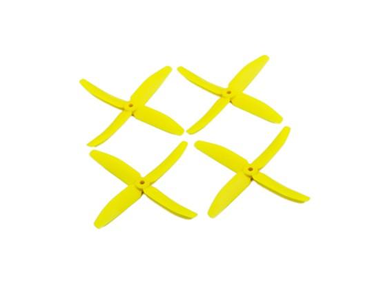 "Dalprops ""Indestructible"" PC 5040 4-Blade Puntales amarillo (CW / CCW) (2 pares)"