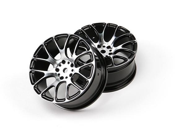 1/10 de aluminio Drift 7Y radios de la rueda (Negro)