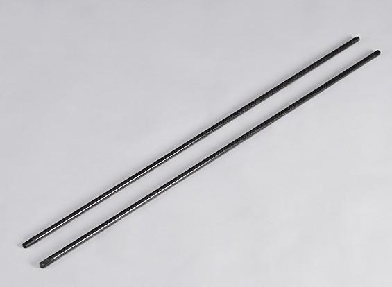 TZ-V2 0.90 Tamaño de fibra de carbono soporte de extremos