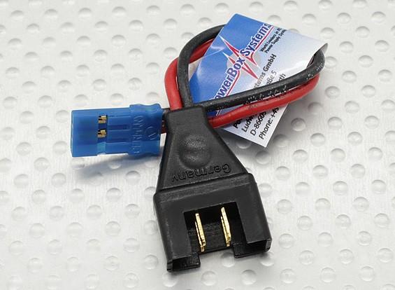 PowerBox adaptador MPX alambre Hombre - JR / Futaba 10 cm, 5 mm de alambre