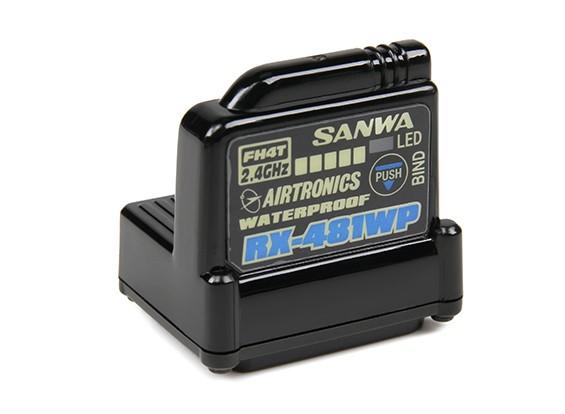 Sanwa RX-481WP de 2,4 GHz FH3 / FH4T Súper Respuesta receptor de 4 canales con antena incorporada