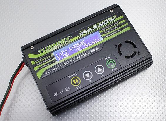 Turnigy MAX80W 7A litio cargador de batería Polímero