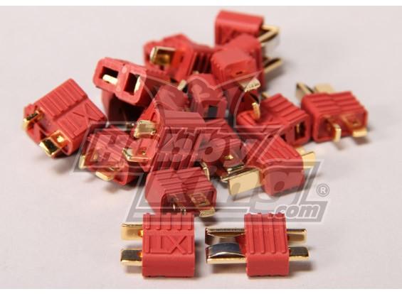 Nylon T-conectores de 10 pares (20pc)