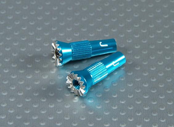 Encargo de la aleación del cardán Extensión - JR Tx (azul)