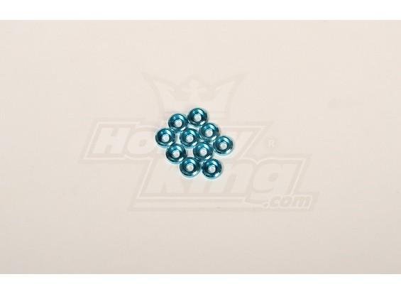 Acabado de las fundas de metal para el tornillo de 3 mm para todos los helis 30-90 azules (10 piezas)