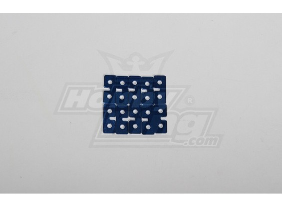 Servo de metales de placas (azul) 10pcs