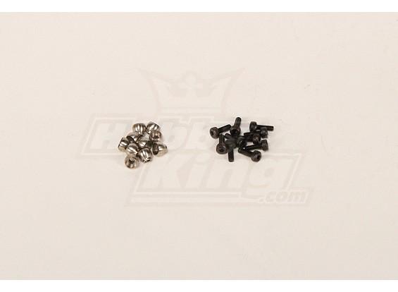 M4.8 bola de acero de tornillo w / 2x6 para Todos Heli (10 piezas)