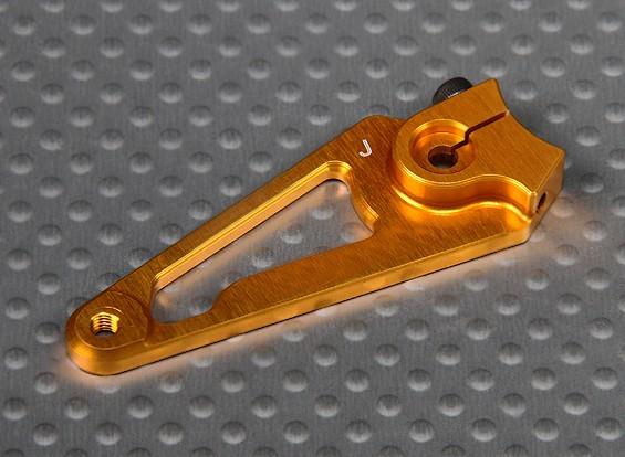 CNC Heavy Duty 1.5 pulg aluminio brazo de Servo - JR (Oro)