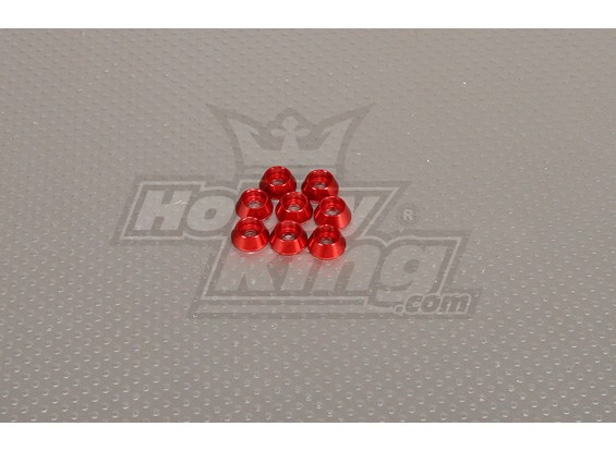 CNC Cap Arandela M4 (4,5 mm) Rojo