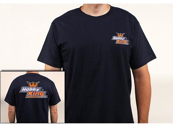 Manía Rey de la camiseta Azul marino (2X-Large)
