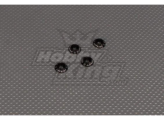 CNC con bridas Lavadora 4.0 (M4, # 8-32) Negro