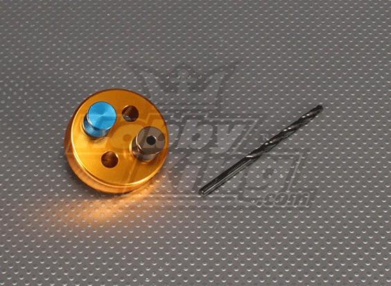 CNC de perforación plantilla Conjunto 4SS (4,3 mm Taladro) Oro