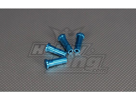 40 mm CNC pulgadas Standoff (M6,1 / 4 20) Azul
