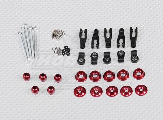 Los cuernos de control ajustable con rodamiento de bolas de F3-A (5sets / bolsa)