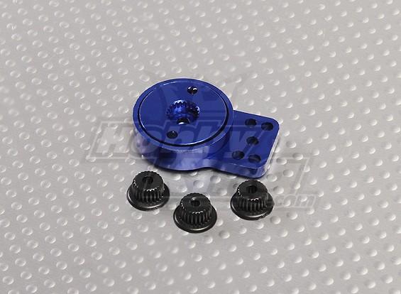Azul de aluminio para trabajo pesado Servo Saver