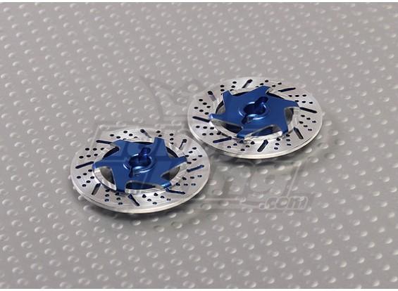 1/10 adaptadores de rueda del freno de disco de 12 mm Hex (azul - 2 piezas)