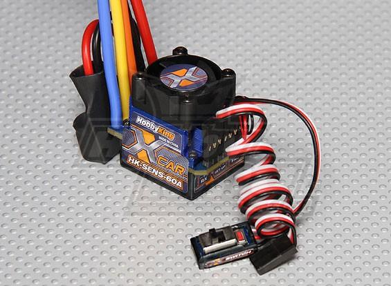HobbyKing® ™ 60A Sensored / ESC sin sensor de coches (1: 10/1: 12)