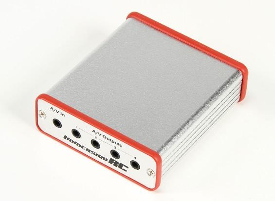 poder ImmersionRC FPV Caja de Potencia AV Groundstation y una distribución de A / V