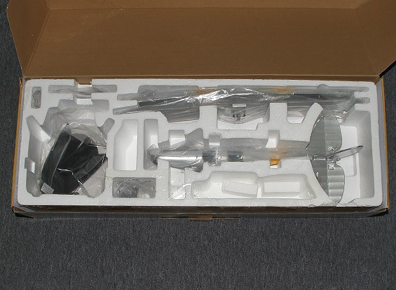 SCRATCH / DENT Hobbyking Micro Tiger Moth 560mm w / soporte de exhibición (PNF)