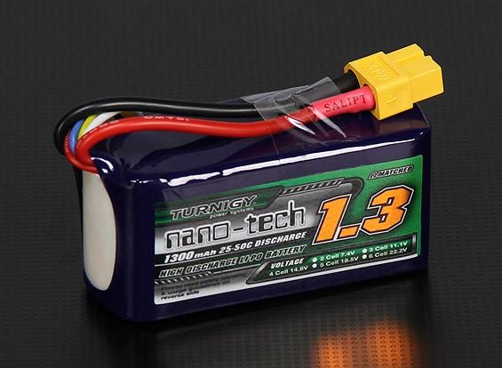 Turnigy nano-tech 1300mAh 4S 25 ~ 50C Lipo Pack de