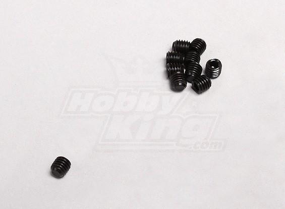 5x5mm tornillo de cabeza hendida (10pcs / pack)