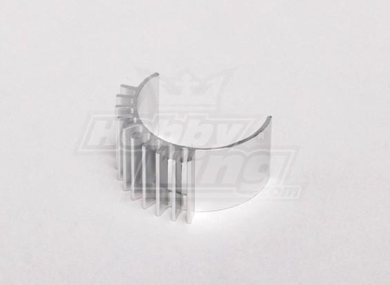 Disipador de calor de aluminio de plata del motor (motor de 24 mm de diámetro)