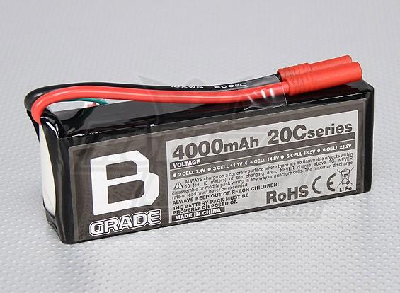 Batería B-Grado 4000mAh 20C Lipo 4S