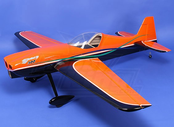 Hobbyking Sbach 340 Naranja-Negro de gas 30cc 1850mm (ARF)