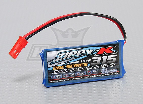 Batería Zippy-K Flightmax 315mah 1S1P 20C Lipo