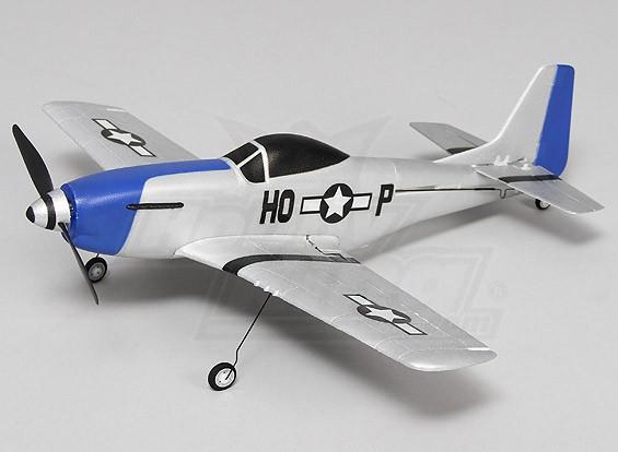 P-51 Mustang Ultra Micro 4 canales de 400 mm (RTF) (Modo 2)