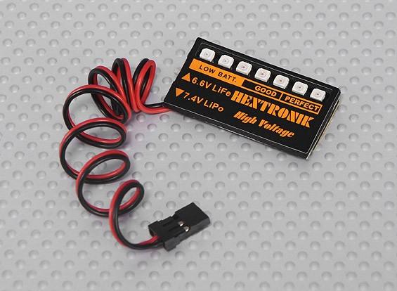 Indicador de voltaje de la batería LED (~ Lipoly la vida)
