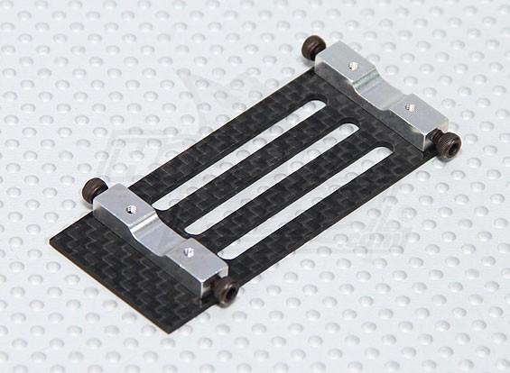 La fibra de carbono del montaje de la batería Trex / HK 450 PRO