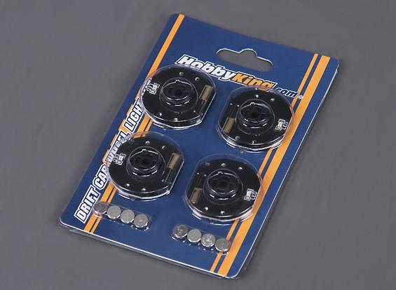 Luces LED de ruedas para la RC Drift Car - azul (4) que