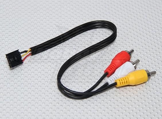 Fatshark FPV 5 Pin Molex a A / V clavijas de los cables de conexión