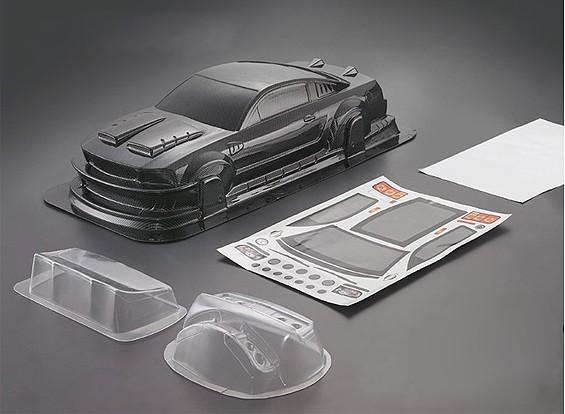 1/10 Mustang GT350 de Shell del carbón de la fibra del estilo del coche del cuerpo (190 mm)