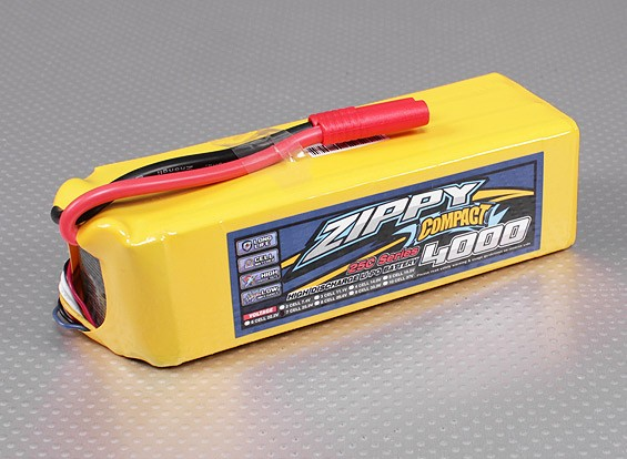 ZIPPY Compacto 4000mAh paquete 7S Lipo 25C