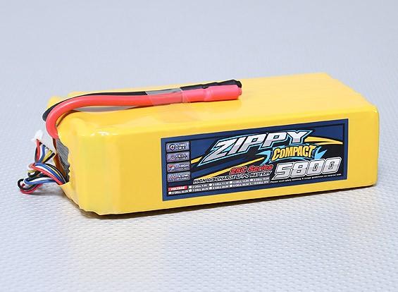 ZIPPY compactos 5800mAh 25C Lipo Pack de 10S