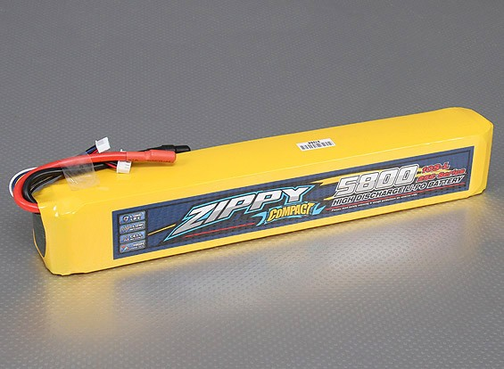 ZIPPY compactos 5800mAh 10S 25C Lipo Pack de largo