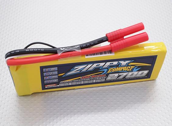 ZIPPY Compacto 2700mAh 2S Lipo 35C Paquete