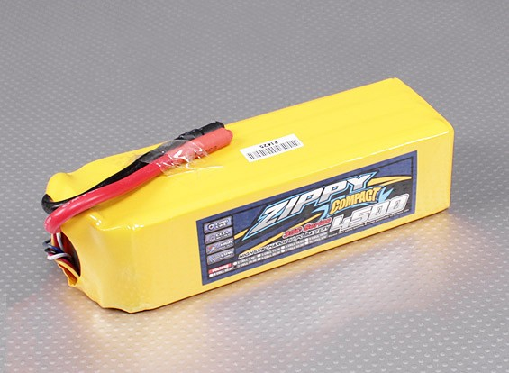 ZIPPY Compacto 4500mAh paquete 7S Lipo 35C